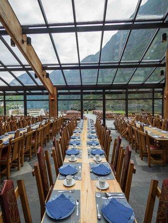 Gudvangen Fjordtell: Food with a view