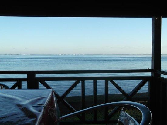 Hiti Moana Villa : vue de la terrasse