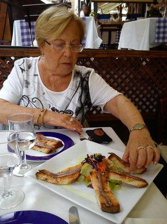 Restaurant Sa Muralla: Sa Muralla. Bruschetta alle acciughe