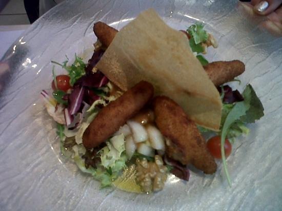 Restaurant Can Panedes: Ensalada de croquetas