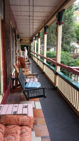 Porch in front of the Inn