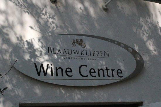 Blaauwklippen: Gastliches Wein Centre