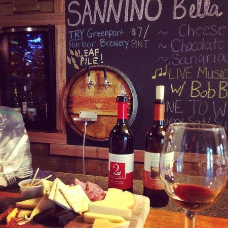Sannino Vineyard B and B : What a delicious tasting!