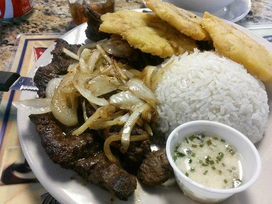 Cuban Delights Cafe : Churrasco steak, it was huge!