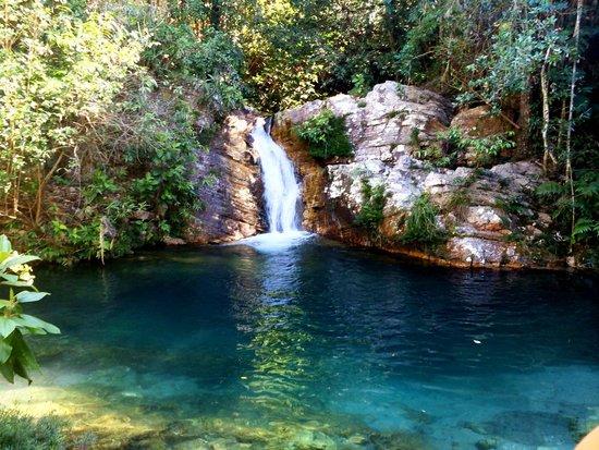 Alto Paraiso de Goias, GO: Cachoeira Santa Barbara