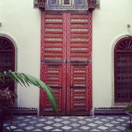 Riad Idrissy: the main courtyard