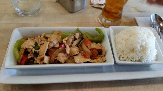 Land : Chicken-Chilli Wok with Rice