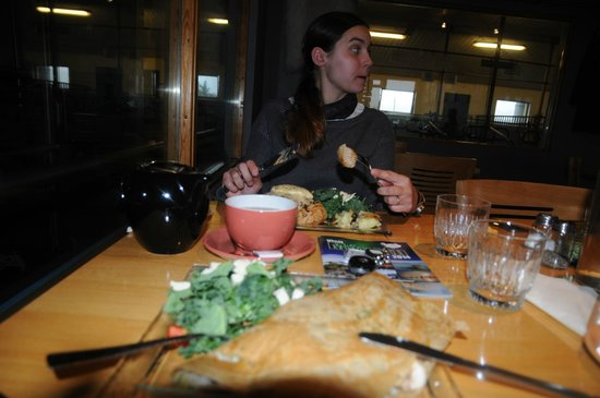 Vogafjos Cowshed-Cafe and Guesthouse: delicious dinner