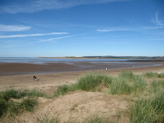 Orchard Farm Cottage Holidays: view from dunes