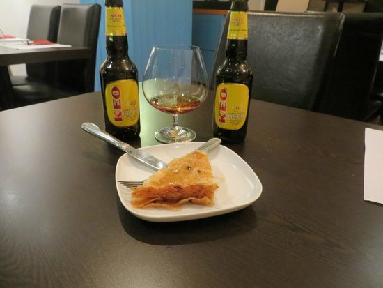 Greek Taverna Yamas: perfect end of the meal! Cheers! -Yamas!