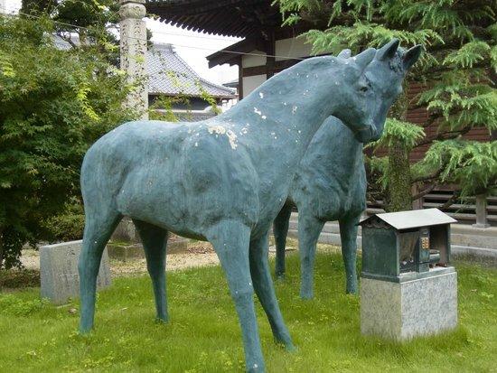 Motoyamaji temple : 馬の彫像