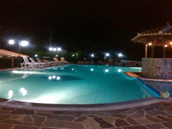 Corifo Village Hotel: Pool by Night at the Corifo