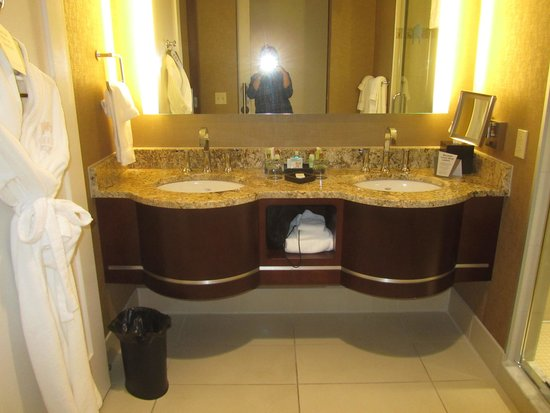 Firekeeper's Casino : The super nice bathroom at Firekeepers Hotel
