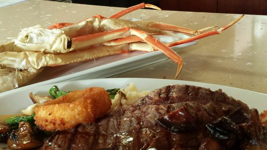 Marriott's Waiohai Beach Club : Two days a week its %50 off yep cracked crab and ribeye delicious