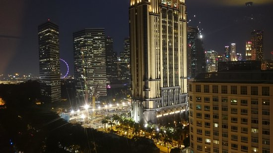 Village Hotel Bugis by Far East Hospitality: Night view from the Club lounge