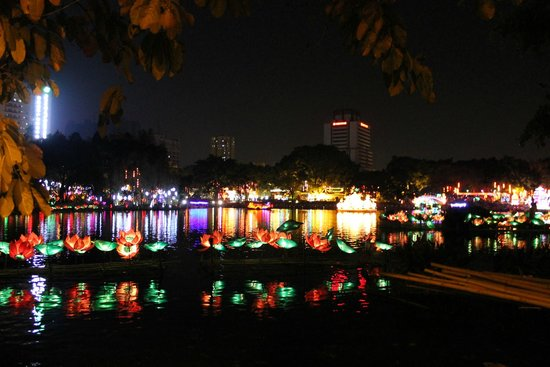 Liwan Lake Park: Озеро