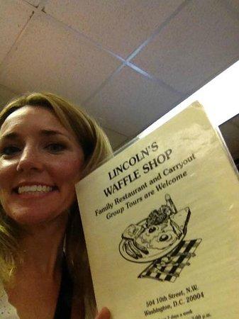 Lincoln's Waffle Shop: Menu shot!