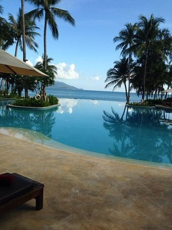 Melati Beach Resort & Spa: view over the main pool