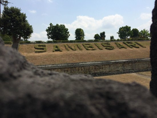 The Sambisari Temple: other than sand and stones, the grass typography can be added to the must-see list for this mtem