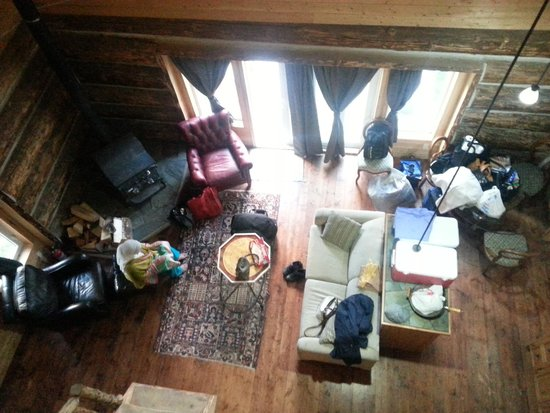 Beaverfoot Lodge: view from the loft