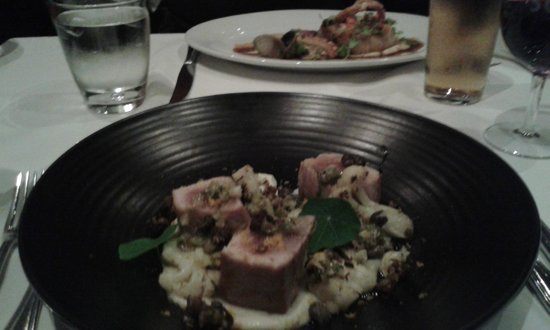 Soul Bar and Bistro: Seared Tuna and Pork Belly (in the distance)