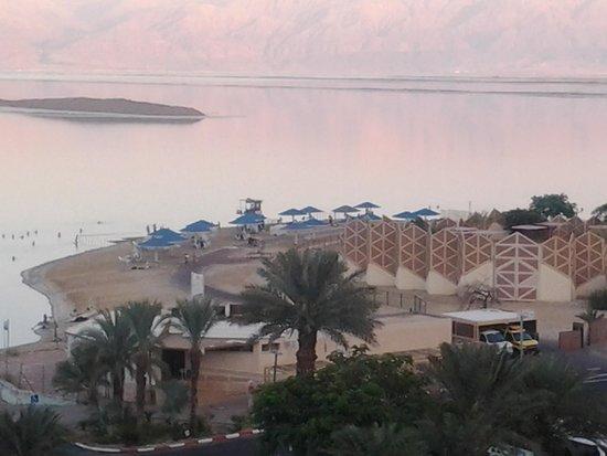 Prima Oasis Dead Sea: view of the private beach