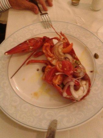 Ristorante Con Pizza Belvedere Scerman : aragosta alla catalana