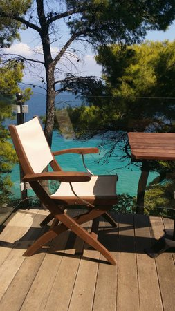 Nostos Hotel: A little piece of paradise - such a gorgeous view to absorb whilst sipping a glass of wine - Hea