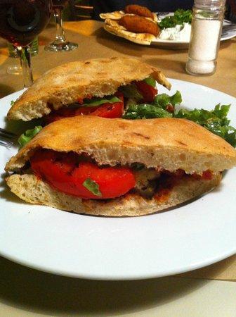 Cypriote burger (vegetarian & delicious!)