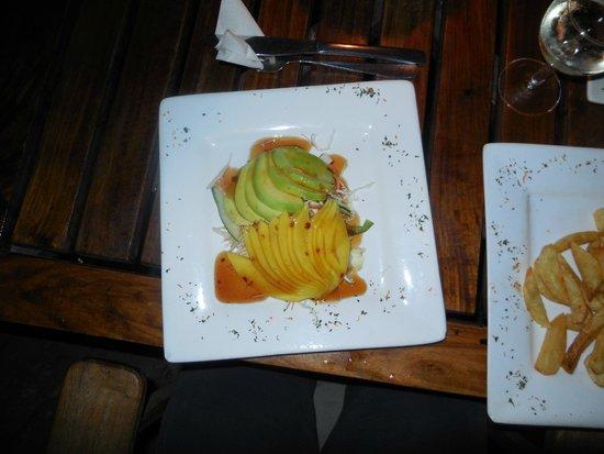 Livingstone Beach Restaurant: Mango & Avocado salad (and chips!)