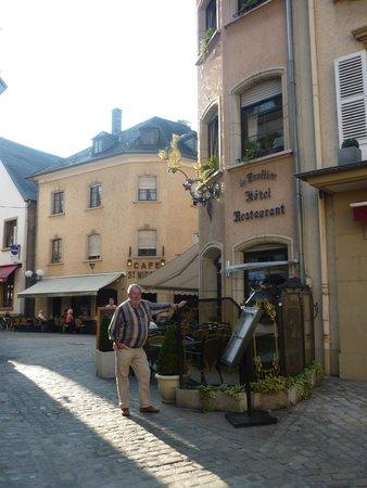 Hotel le Pavillon : het terras