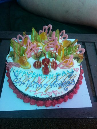 Thipurai City Hotel: Surprise birthday cake for my wife's birthday....