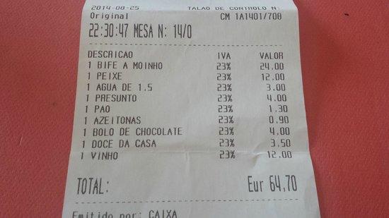 Moinho Ibérico: La cuenta