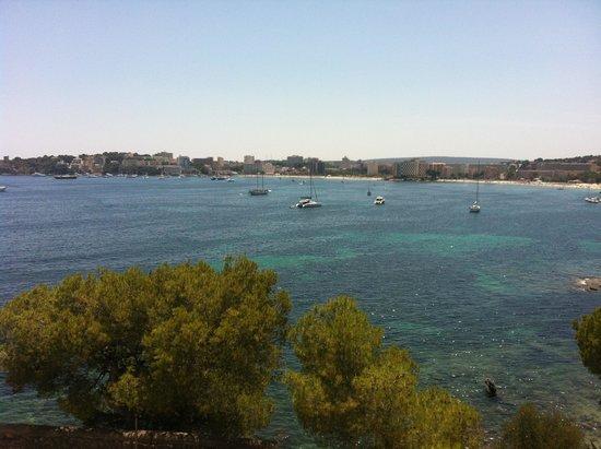 Apartotel Ponent Mar: Utsikt från balkongen