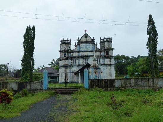 Panjim, India: old building,Divar Island