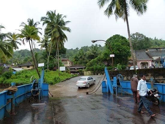 crossing Mandvi by Ferry,Divar Island