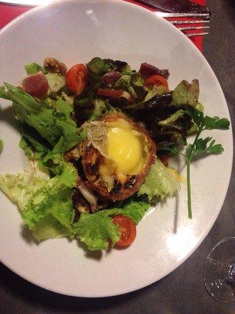 K2 Restaurant : Salade et saint Marcelin