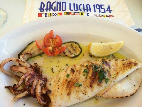 Bagno Lucia : calamar grillé