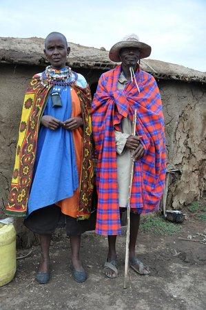 Naboisho Camp, Asilia Africa: Masai husband and wife
