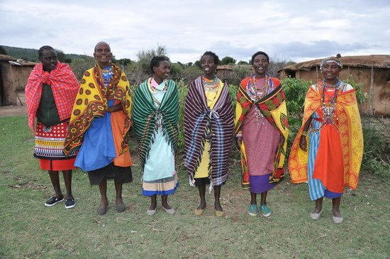 Naboisho Camp, Asilia Africa: Masai ladies in their village