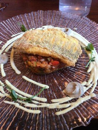 Special - pan-seared loin of lamb, crispy potato straw crust, fennel ...