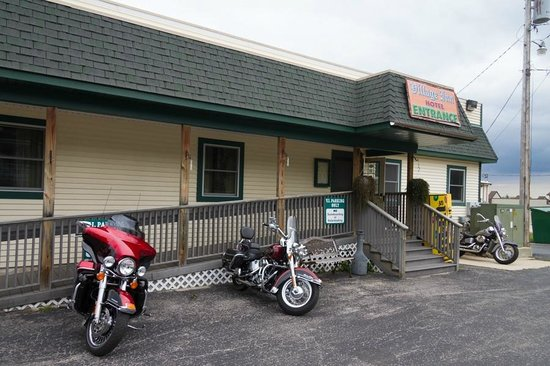 Village Inn of Saint Ignace: This is the back entrance, easily accessible via a ramp if needed.