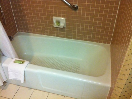 The Westin Dallas Park Central: Almost clean but old tub