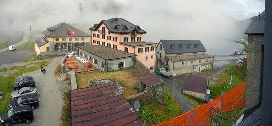 St Gotthard Hospiz blick aus dem obersten zimmer auf hospiz und restaurant picture of