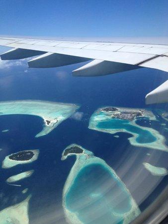 Filitheyo Island Resort: Vue à l'arrivée aux Maldives