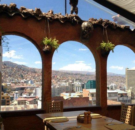 Hotel Rosario La Paz : rooftop bar&restaurant