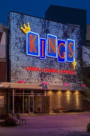 The Draft Room at Kings Dining & Entertainment Rosemont: Kings Sign Seen From Highway