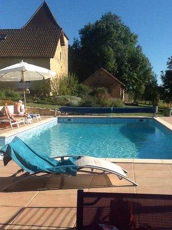 Cendrieux, Frankrike: Het zwembad in de groote mooie tuin.