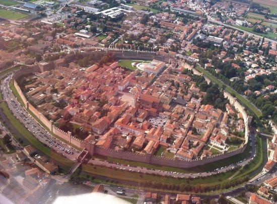 La Cinta Muraria - Camminamento di Ronda: View from the air on private plane.