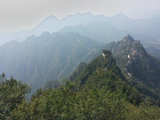 The Great wall of Jiankou-The Great Wall Alternative: Vue depuis Zhengbeilou sur Jiankou
